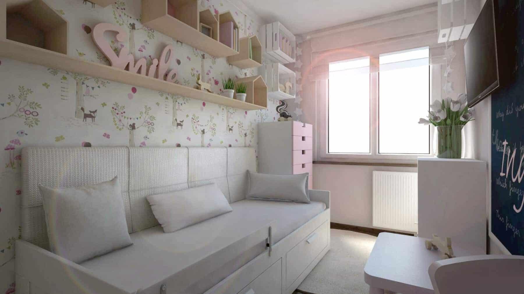 Półki - domki w pokoju dziecka