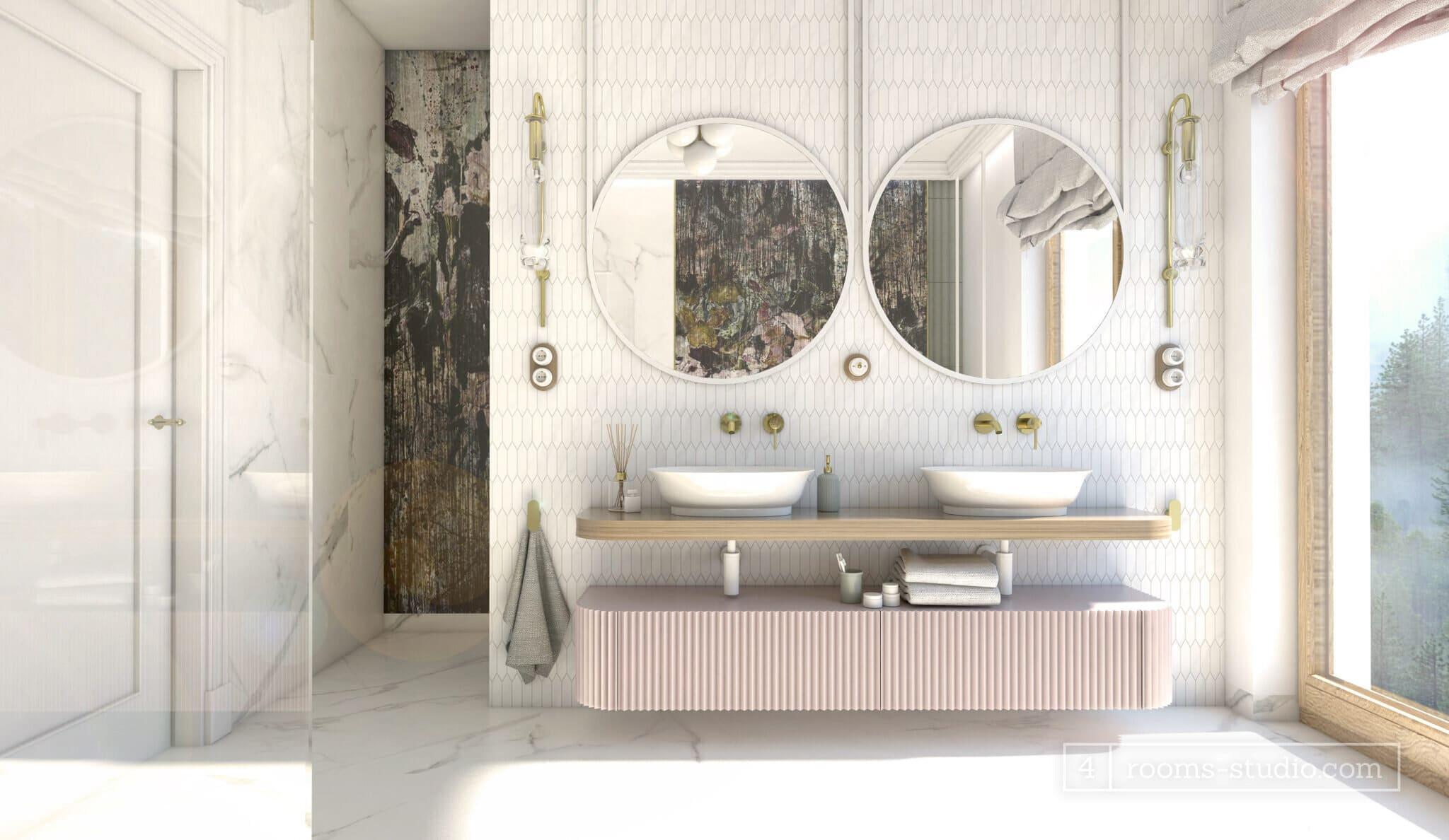 Elegancka łazienka master